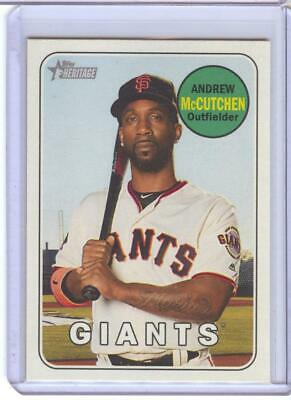 2018 Topps Heritage High Series - SP - Color Swap - Variation - Andrew McCutchen