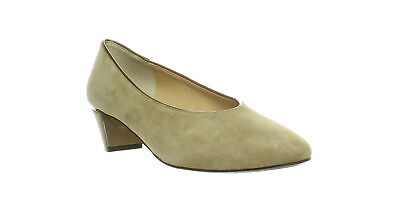 J. Renee Womens Clarion Taupe Suede/Patent Pumps Size 7.5 (533460)