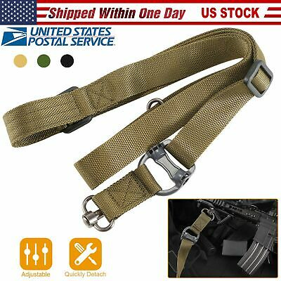 "2 Point Rifle Sling Retro Tactical Quick Detach Multi Mission 1.2"" Width Nylon"