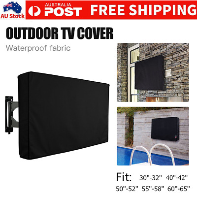 "32""-65"" Waterproof TV Television Cover Outdoor Patio Flat Television Protector"