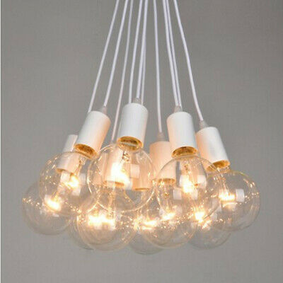 E27 Bulb Pendant Lamp Holder Ceiling Socket Base Light Hanging Fitting Kit DIY