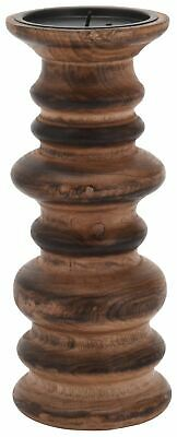 Traditional Wooden Candle Stick Holder ~ Decorative Pillar Candle Holder