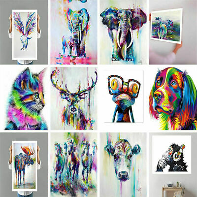 12 Type Cute Square Modern Art Abstract Animal Wall Oil Painting Unframed zLYr4P