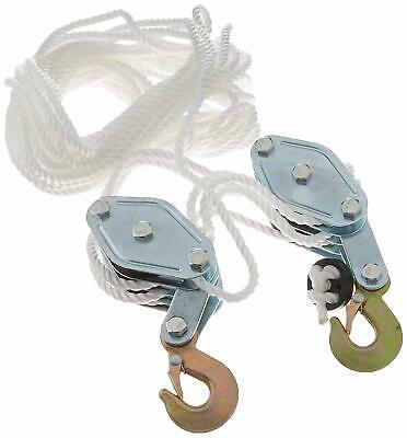 Rope Pulley Block Tackle Hoist 4000lbs Capacity Wheel Poly Puller Lifter Tools