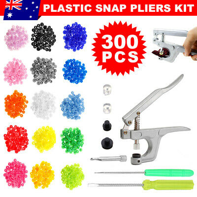 300pcs T5 Size Snap Buttons Press Studs Pliers Set Plastic for Clothing/Crafting