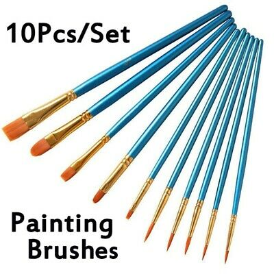 10Pcs/Set Art Painting Brushes Acrylic Oil Watercolor Artist Paint Brush Kit