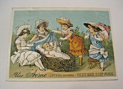Antique Acme Soap Best Bar Soap Made Advertising Victorian Trade Card ~ C@@L ~