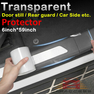 """6x60"""" Clear Door Sill Edge Paint Protection Scratches Vinyl film Sheet All Car"""