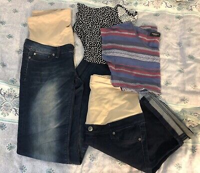 Maternity Wear Clothes Bulk Lot NEW CONDITION shorts, Jeans, Shirts, Business