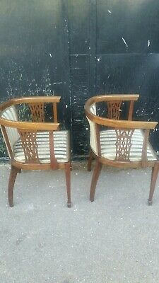 pair of victorian tub chairs