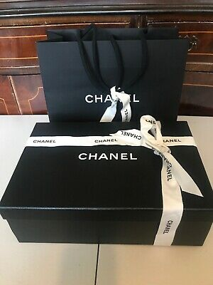 Chanel Empty Shoes Box-bag And Paper-Ribbon
