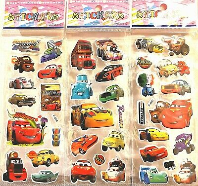 Disney Pixar Cars lightning mcqueen car Stickers 10 sheets