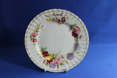Royal Albert Flower Of The Month ( April - Sweet Pea ) Dessert Plate.