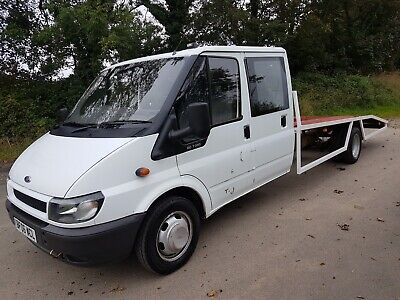 Ford Transit Crew Cab Double 350 Recovery Truck Beaver Tail Race Transporter