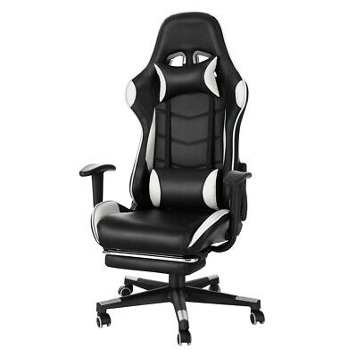 Panana Leather Gaming Racing Chair Office Executive Recliner with Neck Pillow
