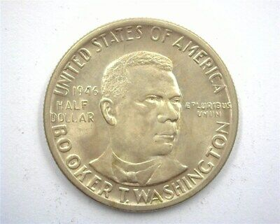 1946 Booker T. Washington Silver 50 Cents  Gem+ Uncirculated