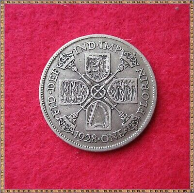 1928 George V Silver Florin/ Two Shillings (2/-) Coin.