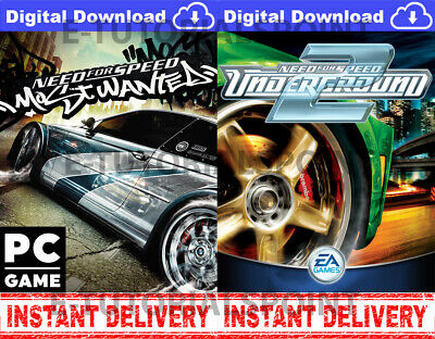 Need For Speed Most Wanted 2005 & Need For Speed Underground 2 INSTANT SHIPPING