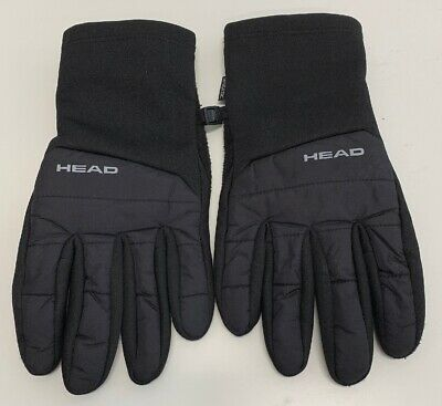 HEAD LARGE  black polyester mens gloves (grip pad on palm area)
