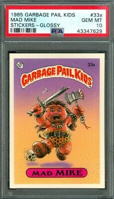 1985 Topps GARBAGE PAIL KIDS #33a Mad Mike (GLOSSY) PSA 10 (GEM-MINT)