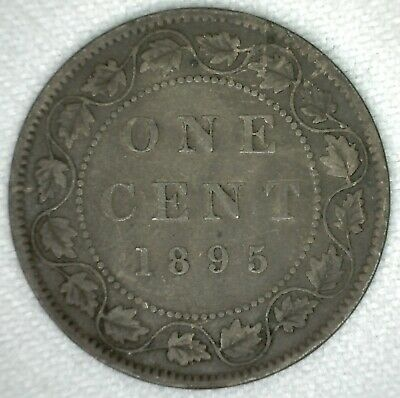 1895 Canadian One Cent Copper You Grade KJ2