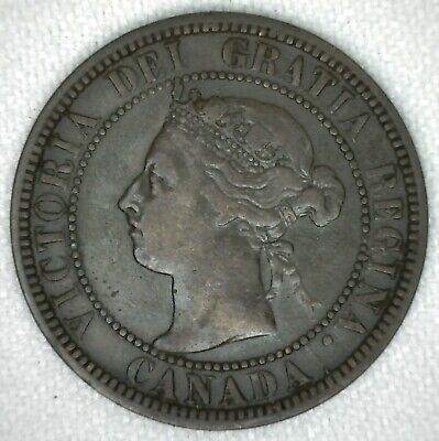 1892 Canadian Large Cent Copper 1 Cent Canada Very Fine KJ2