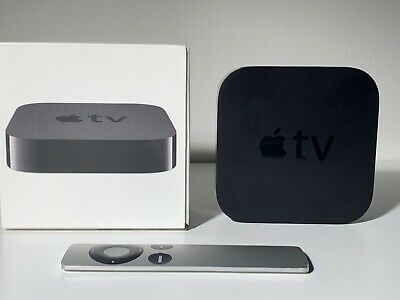 Apple TV (3rd Generation) with original remote MD199LL/A - Black