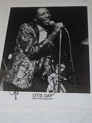 """OTIS DAY and The Knights AUTOGRAPHED Press Prom Photo 8"""" x 10"""""""