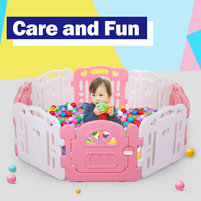 Sided Plastic Playpen Safety Gate Baby Toddler Child 8 panel 3 shapes New