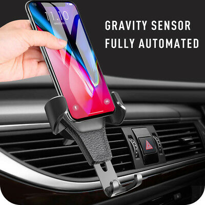 Universal Easy Mobile Phone 360 Rotating Car Air Vent Mount Holder Cradle Stand