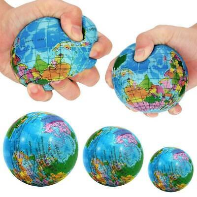 World Map Earth Globe Squeeze Foam Ball Hand Wrist Exercise Stress Relief Toys