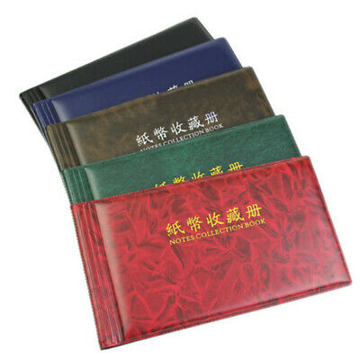 Gift Paper Money Pocket Wallet Currency Banknote Collection Album 20Notes Pages