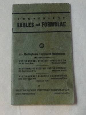 1950's Westinghouse hints on Electrical Maintenance Tables and Formulae booklet