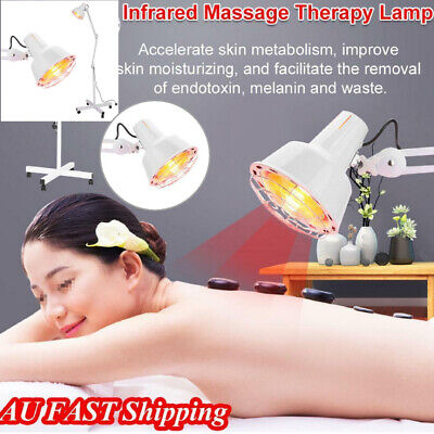 275W Infrared Light Heating Therapy Lamp Electric Body Pain Relief Treatment AU
