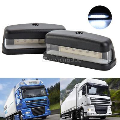 2X 12V 6 Led Rear License Number Plate Lights Lamp Truck Caravan Trailer Lorry