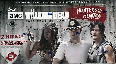 The Walking Dead Hunters And The Hunted Factory Sealed Trading Card Hobby Box