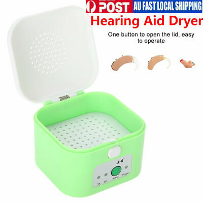 Electric Hearing Aid Dryer Assistance Drying Maintain Dry Box Storage Case