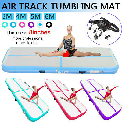 20cm Thick 3 4 5 6m Air Track Inflatable Gymnastics Home Floor  Tumbling Mat