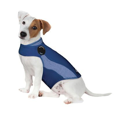 ThunderShirt Anxiety Jacket for Dogs, Blue Polo, Small