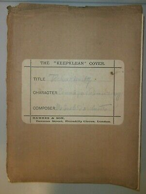 Raro Introvabile Antico Materiale d'Orchestra Tschaikowsky Op. 35