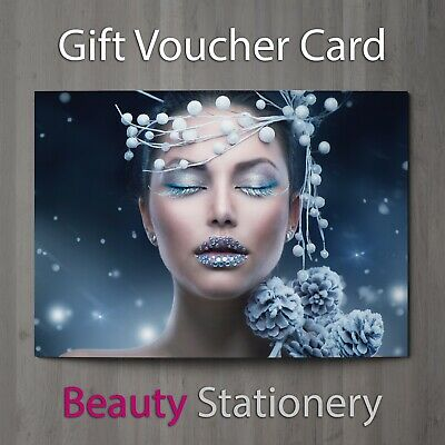 Christmas Gift Voucher Blank Beauty Salon Card Coupon Massage Therapist A7 + Env