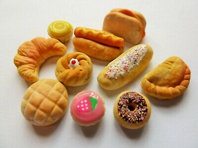 Dolls House Miniature Food * 10 Piece Savoury + Sweet Food Bundle * Combined P+P