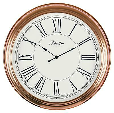 'Higham' 45.5cm Brushed Copper Colour Wall Clock by Acctim