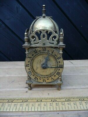 Vintage Smiths Nell Gywnne Clock / Brass Smiths Lantern Clock / Battery Movement