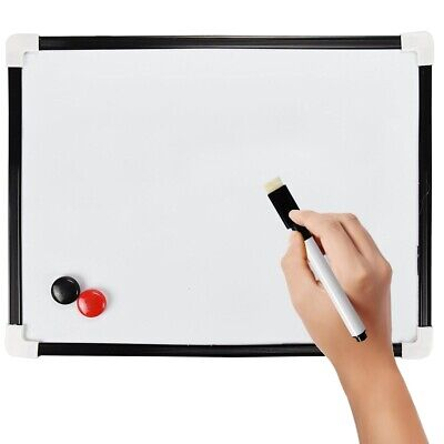 MAGNETIC SMALL WHITE BOARD Whiteboard Dry Wipe Wall Hanging Memo List Planner UK