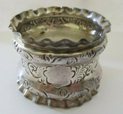 Antique Ruffled Edge Sterling Silver Napkin Ring Lot # 2 Of Collection ! See All
