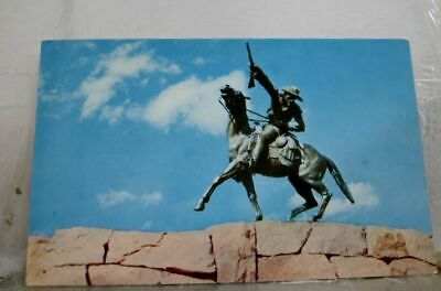 Wyoming WY Buffalo Bill Statue Cody Postcard Old Vintage Card View Standard Post