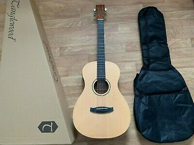 Electro Acoustic Parlour Guitar with tuner preamp and padded gig bag