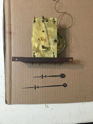 Antique Weight Driven Regulator Or Banjo Clock Movement & Hands Seth Thomas Era