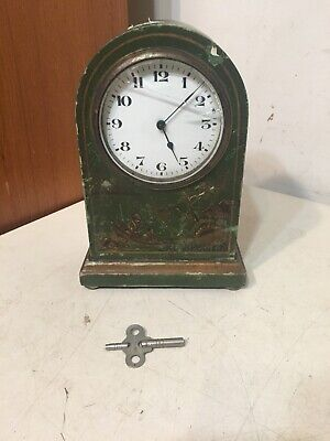 Antique French Mantle Clock W/ Chinoiserie Restoration Project Japy Marti Era